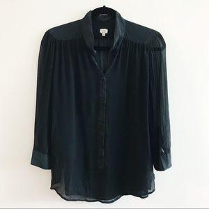Wilfred Black Silk Top